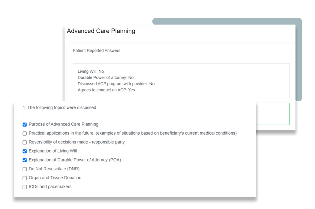 Advanced care planning - periwinkle