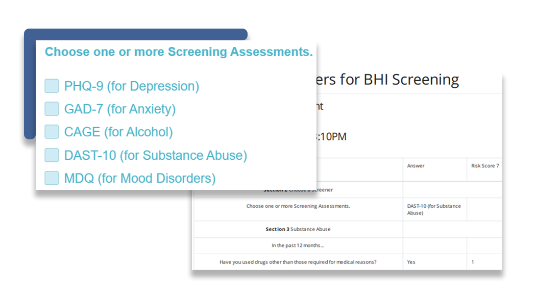 Assessments to determine patient need - blue